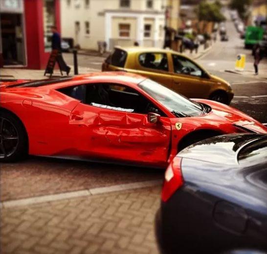 Ferrari 458 Italia Crashed In London After Racing Audi A4