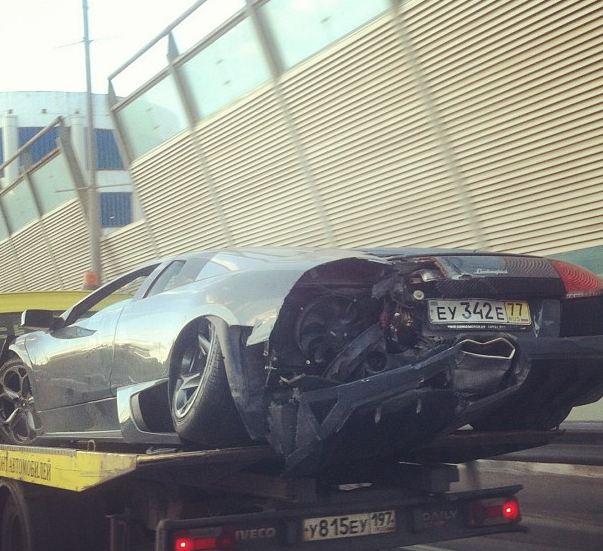 Lamborghini Murcielago Crashed In Moscow