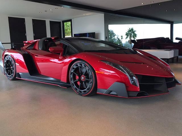 Lamborghini Veneno Roadster On Display in Los Angeles