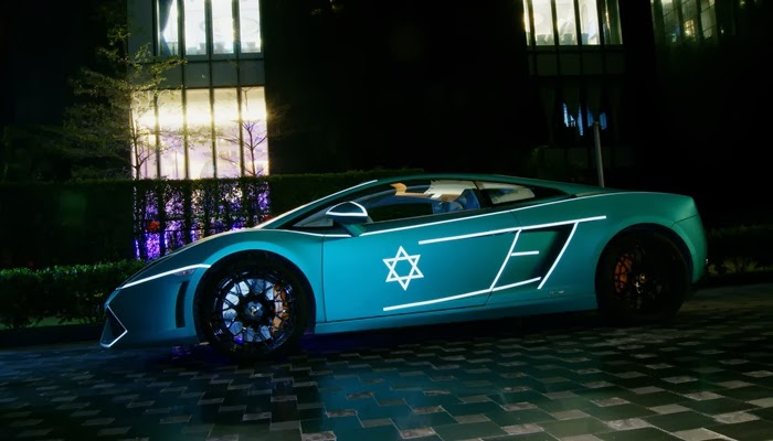Photo: Lamborghini Gallardo Glowing In TRON Theme