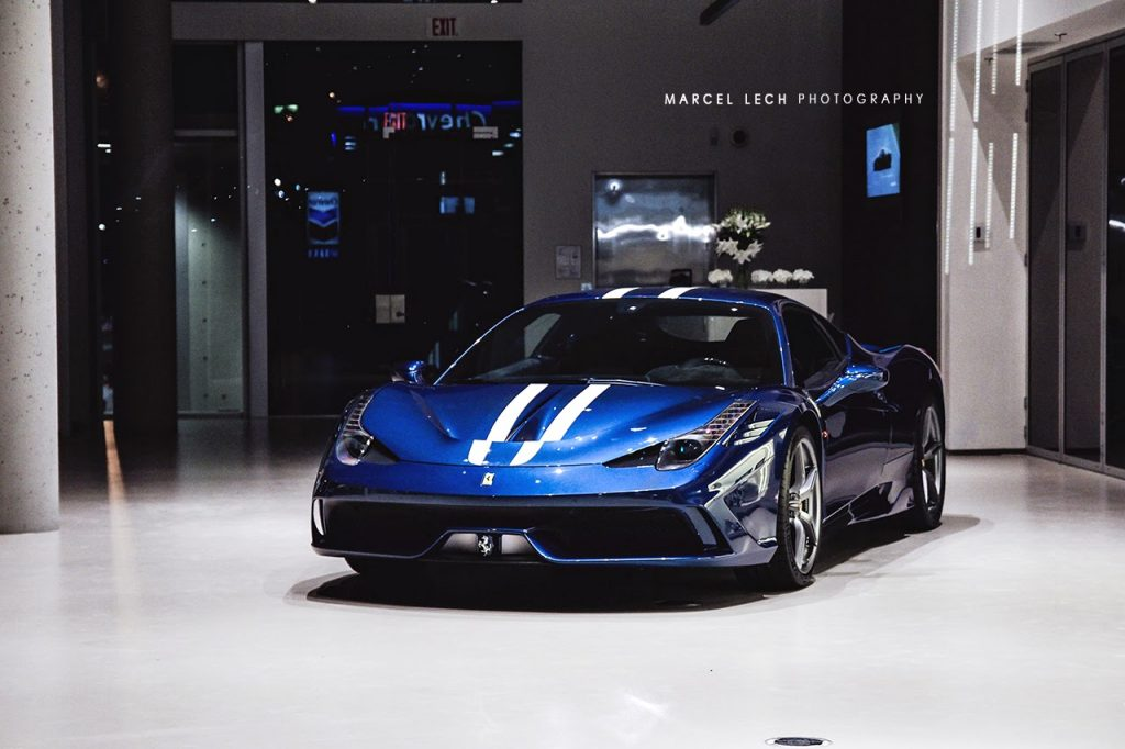 Amazing Shots Of Blue Ferrari 458 Speciale