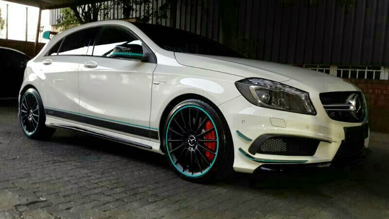 Mercedes A45 Amg Edition 1 Gets Unique Turquoise Touches