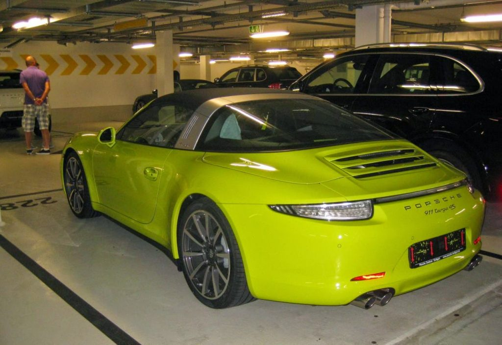 Porsche 911 Targa 4s Spotted In Lime Green Too