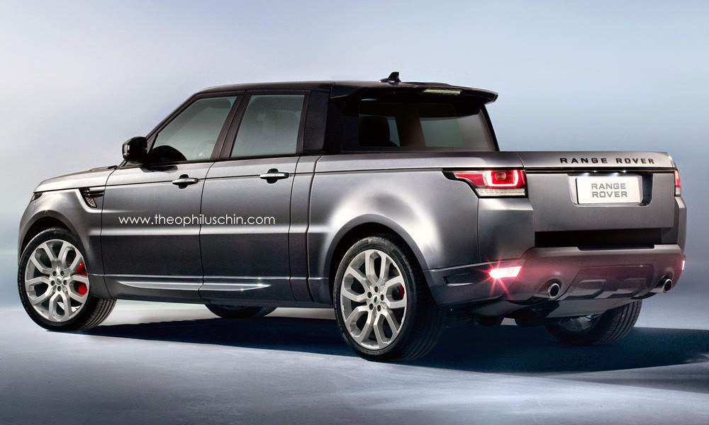 range rover rendered into sporty pickup truck. Black Bedroom Furniture Sets. Home Design Ideas