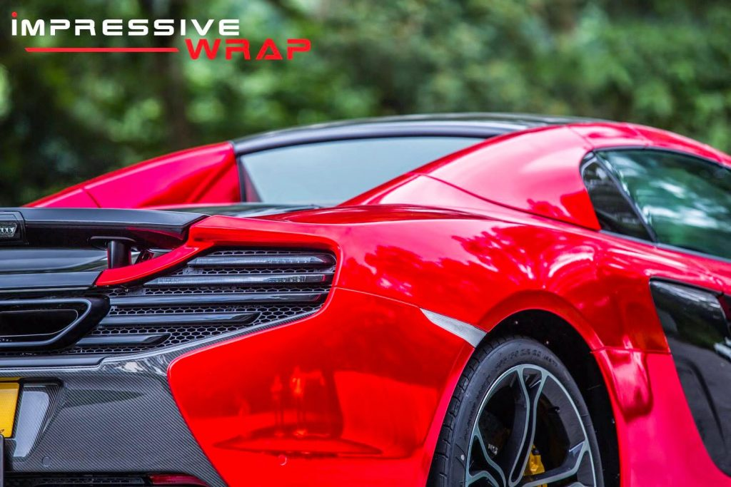 Mclaren 650s Gets Bright Red Chrome Wrap