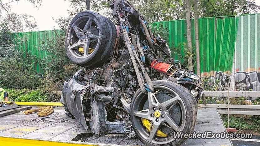 Horrific Ferrari 458 Spider Accident On Autobahn