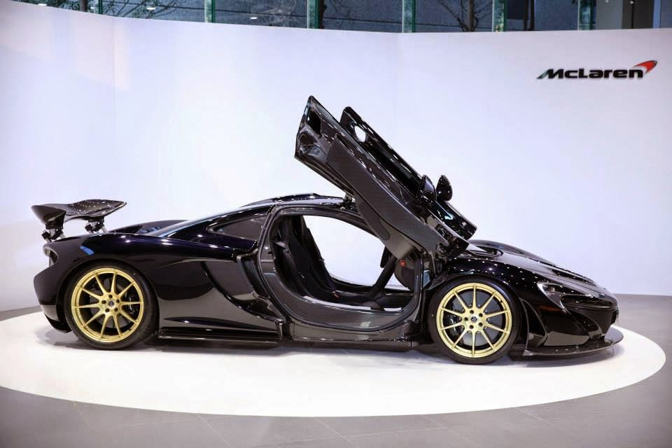 Gotham Black Mclaren P1 Sits On Gold Wheels