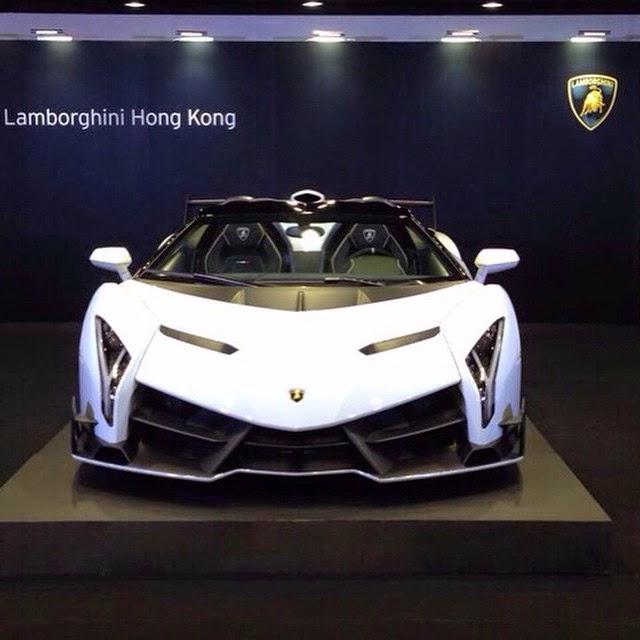 White Lamborghini Veneno Roadster Delivered To Lamborghini