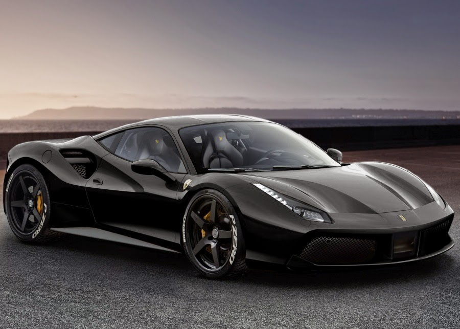 ferrari 488 gtb rendered with some hre wheels