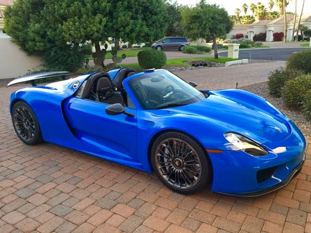 Voodoo Blue Porsche 918 Spyder For Sale On eBay