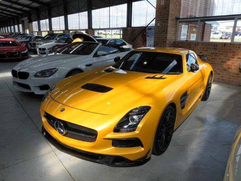there is an auction happening tomorrow at 1900 22nd april 2015 which includes a very scarce mercedes benz sls amg black series finished in sunburst