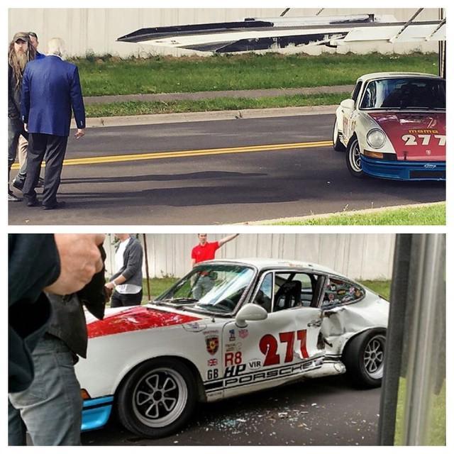 """Magnus Walker Crashed His Porsche 911 """"277"""" Into A Truck"""