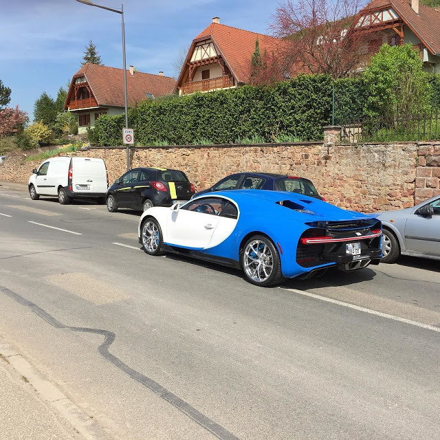 blue and white bugatti chiron spotted testing. Black Bedroom Furniture Sets. Home Design Ideas
