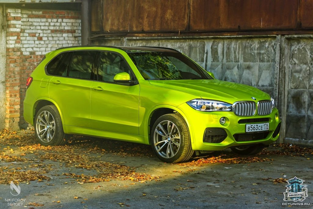 New BMW X5 Gets Electric Lime Green Wrap